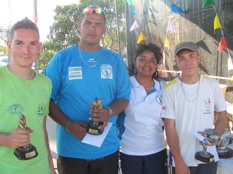 Adrien Pioger (à gauche) vainqueur de la Coupe de la Réunion chez les juniors
