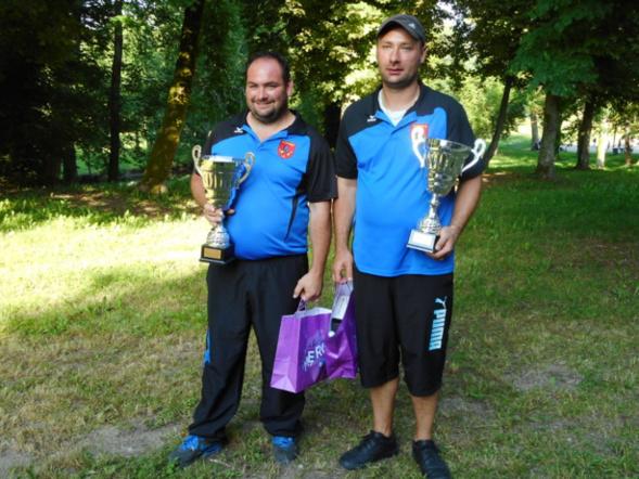 Micka et Martial champion doublettes 2017