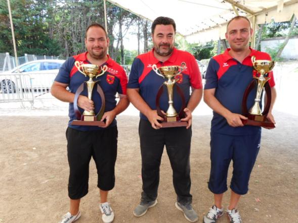Trois amis champion triplettes 2017