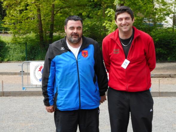Thomas avec son ami Seb Champion provençal 2017.