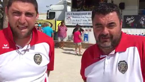 Sébastien et Thomas : Vice champion de france Jeu provençal 2017.