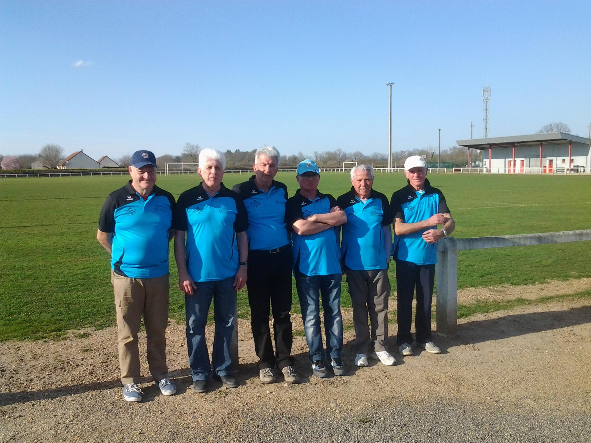 l'equipe A vétérans à Trévol