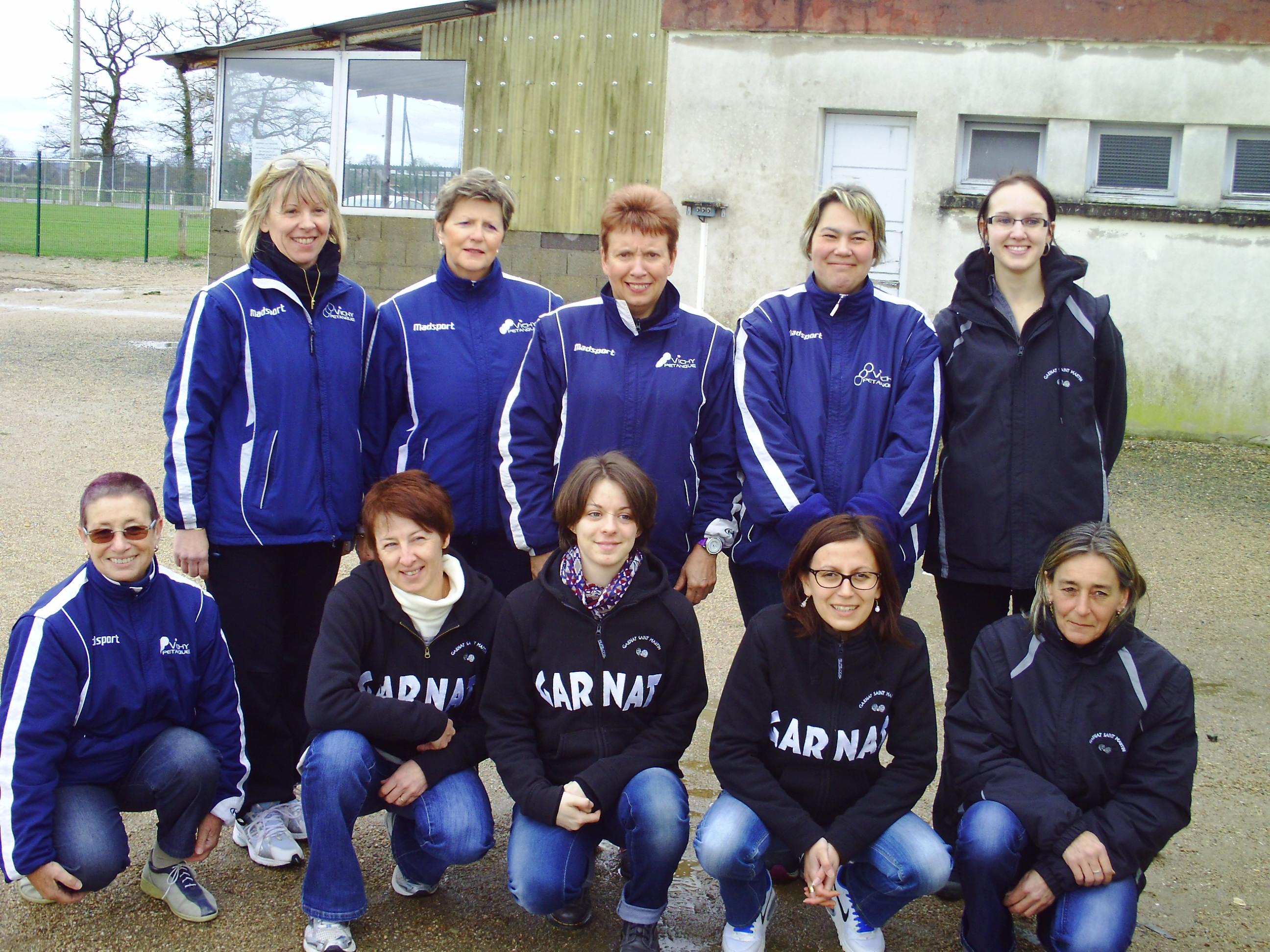 les  féminines de VICHY PÉTANQUE se déplaçaient à GARNAT S/ENGIEVRE