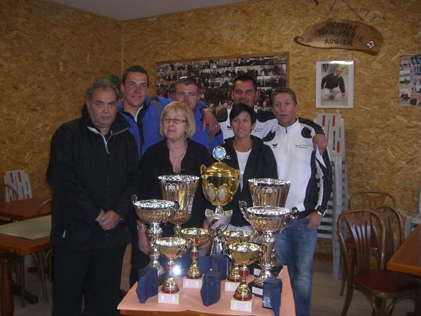 Championnat départemental Doublette Provençale: CROUHY Damien - GARNIER Damien et ROUSTAN daniel - ARNAUD Fréderic qualifiés