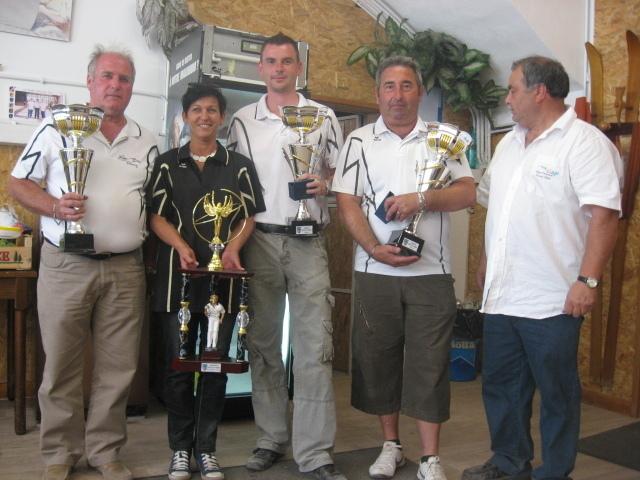 Championnat départemental Triplette Homme : Faralli , Escaillon et Bougnas (Briançon ) vainqueurs