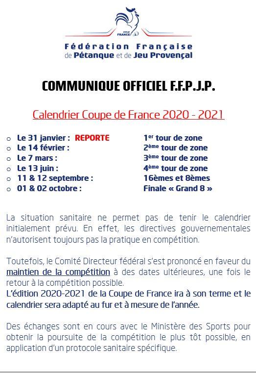 COUPE DE FRANCE 2020/2021