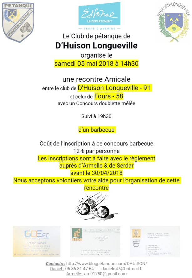 Rencontre amicale Fours - D'Huison