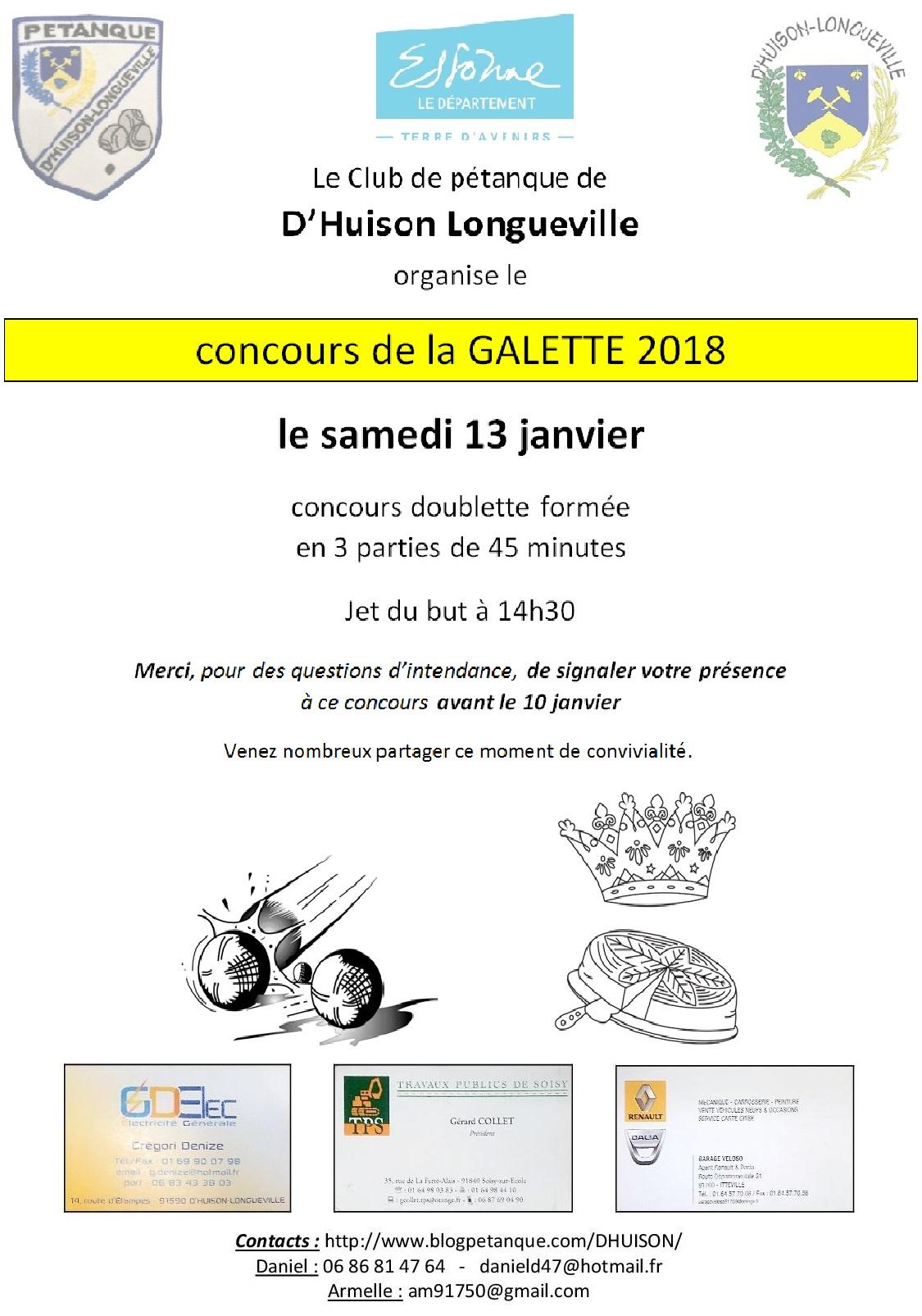 Concours CLUB de la galette 2018