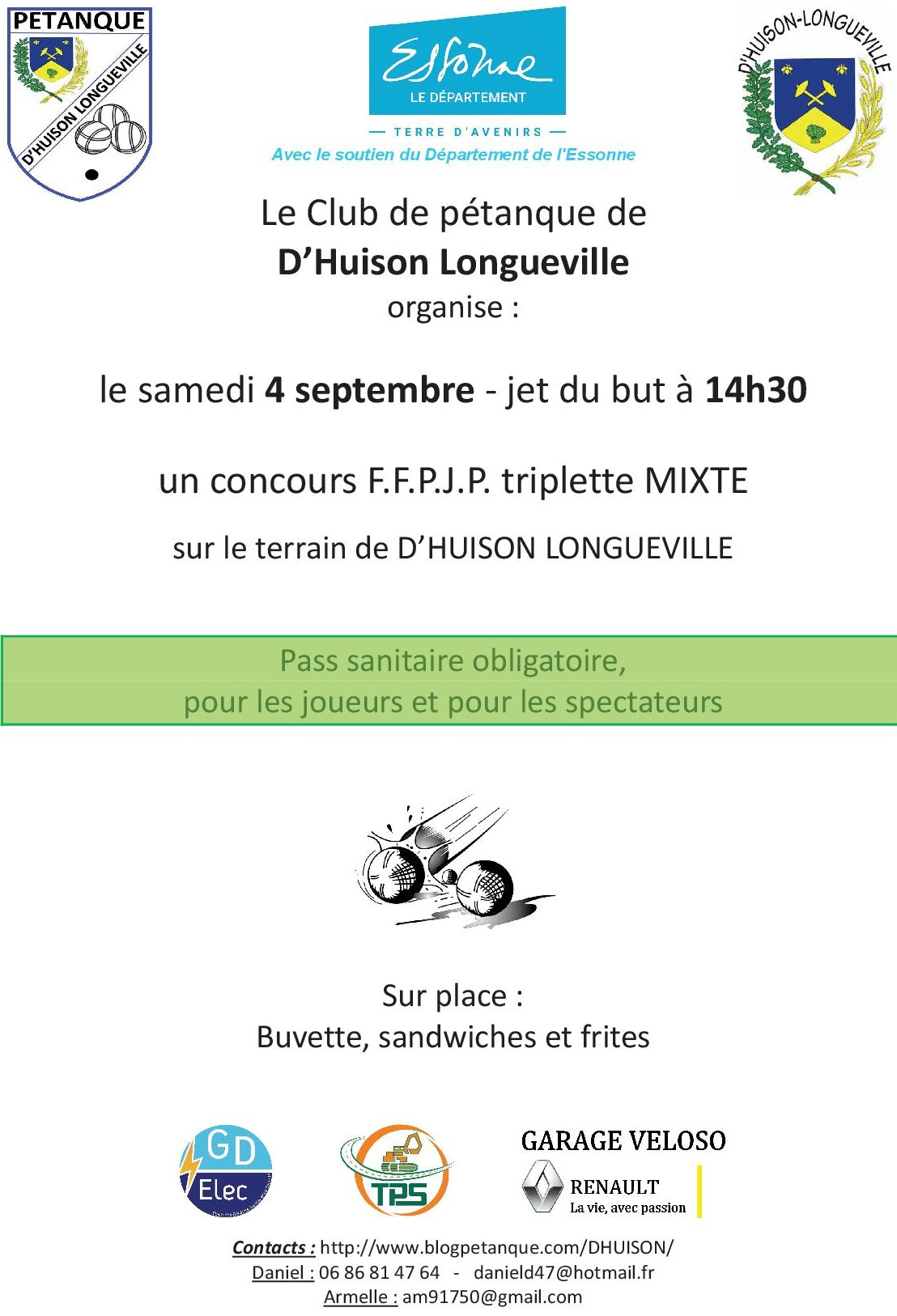 Samedi 4 septembre : concours mixte sur notre terrain