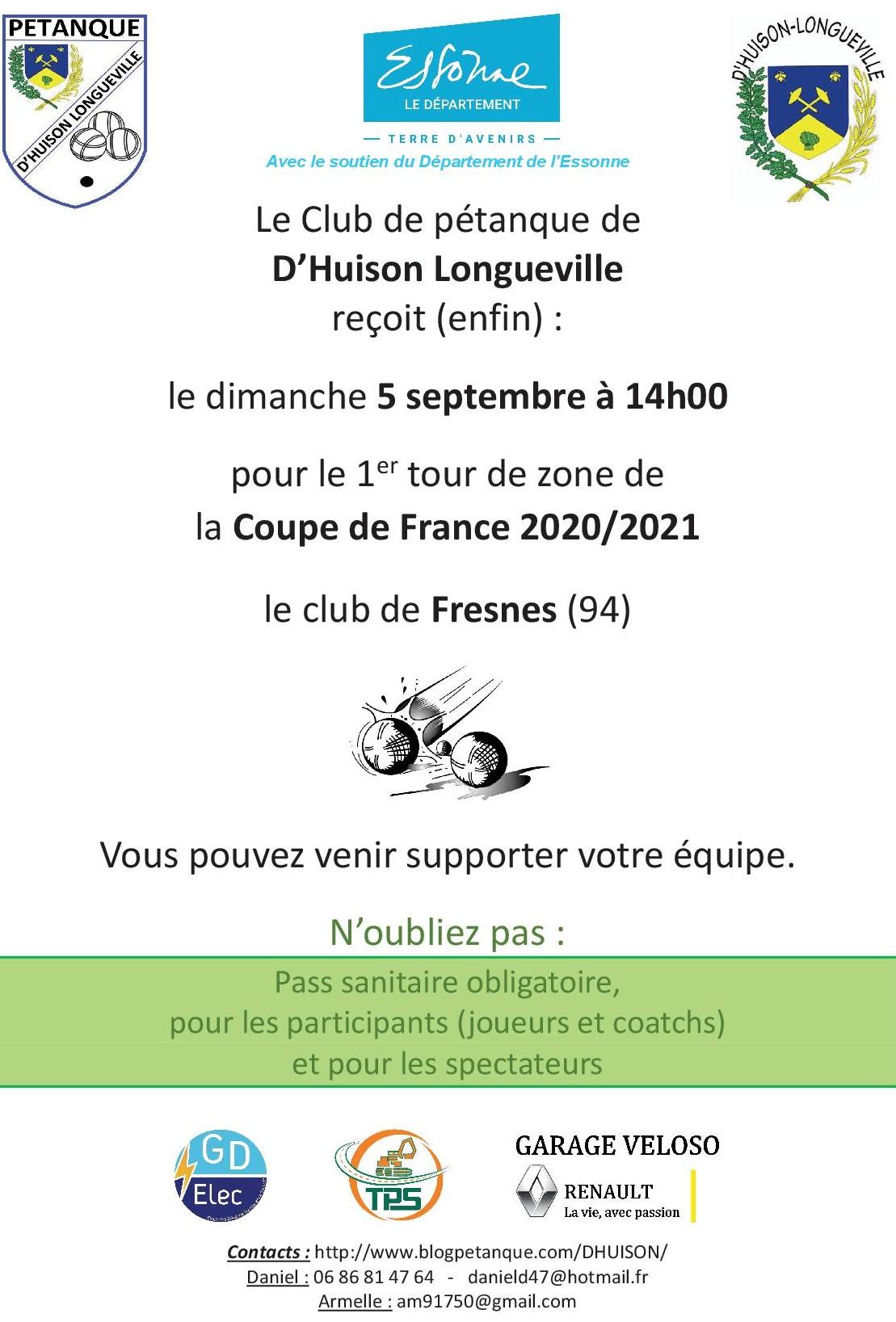 Dimanche 5 septembre : coupe de France