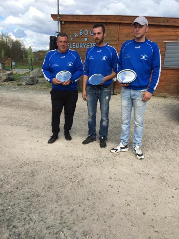 Résultat du championnat de l'Eure triplette promotion du 01/04 et 02/04  à Fleury