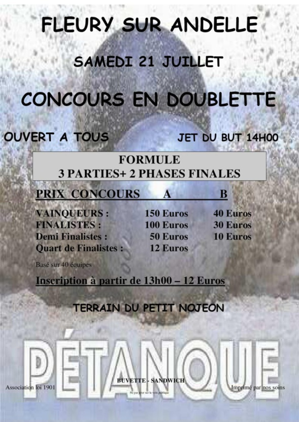 Concours 21/07/2018