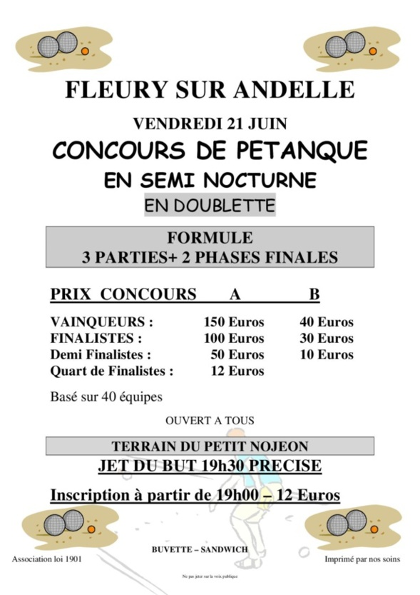 Affiche Concours 21/06/19