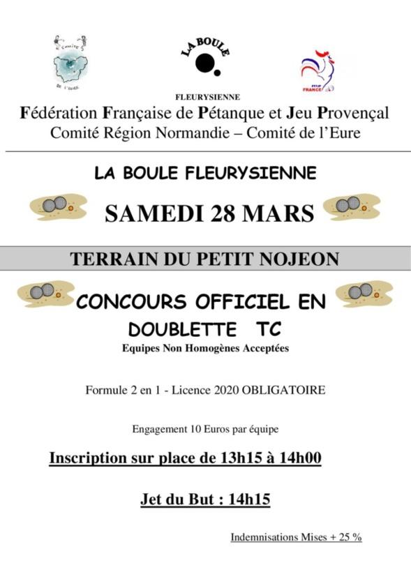 Concours Officiel 28 mars à Fleury