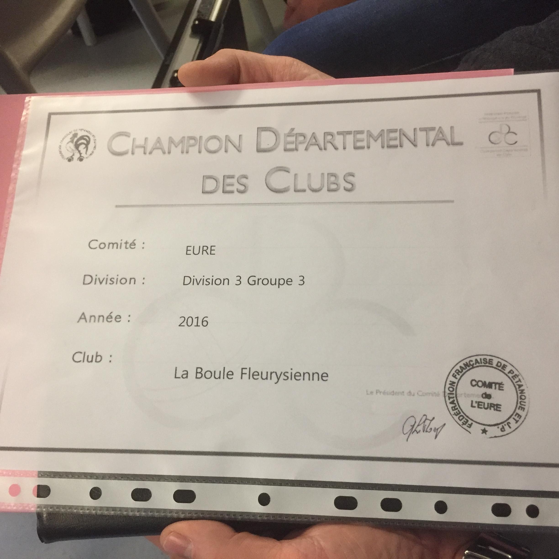 Cdc 2016 champion de division 3 départemental