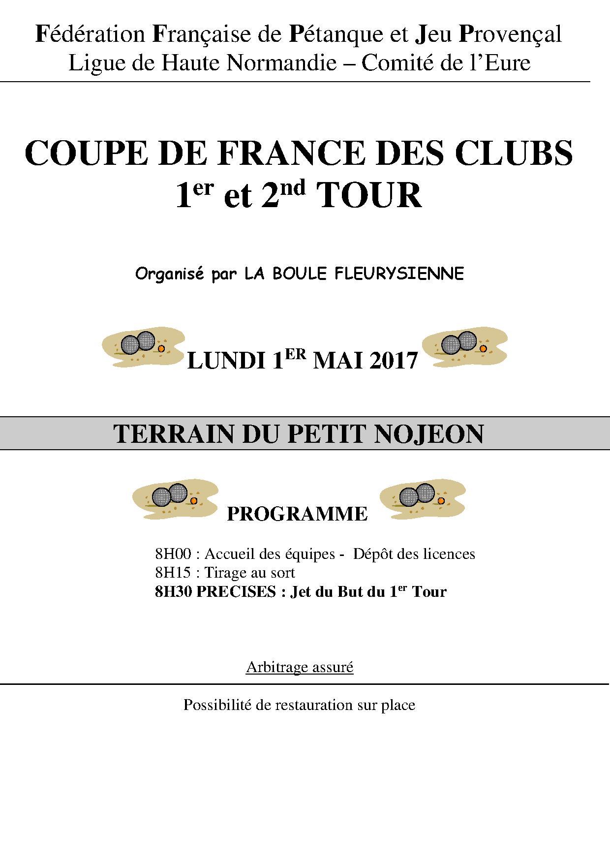 Information coupe de France 2017