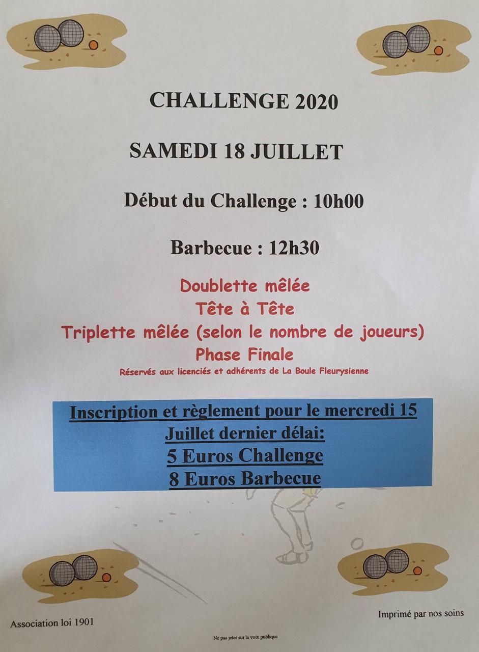 Affiche challenges 2020