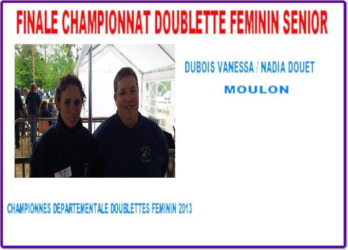 championnes du cher doublette feminine 2013