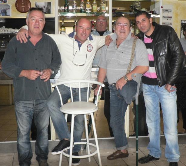 René avec Raymond et Bruno ABGUILLERM, Robert MATRAGLIA et BENMOSTEFA,