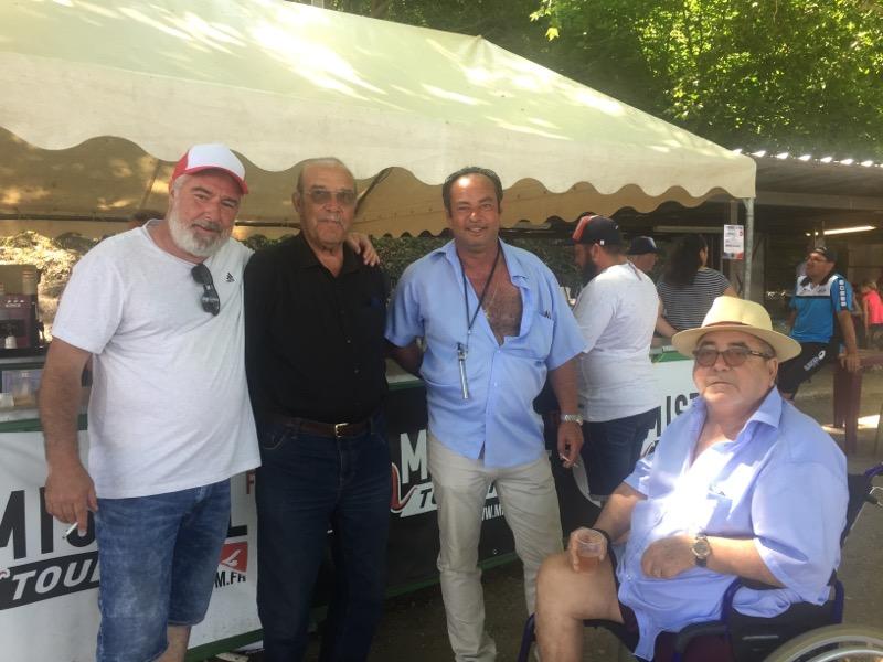 Au championnat de France à Pierrefeu cet été en compagnie de René ABGUILLERM, Momond GIBERT et Blue LACROIX
