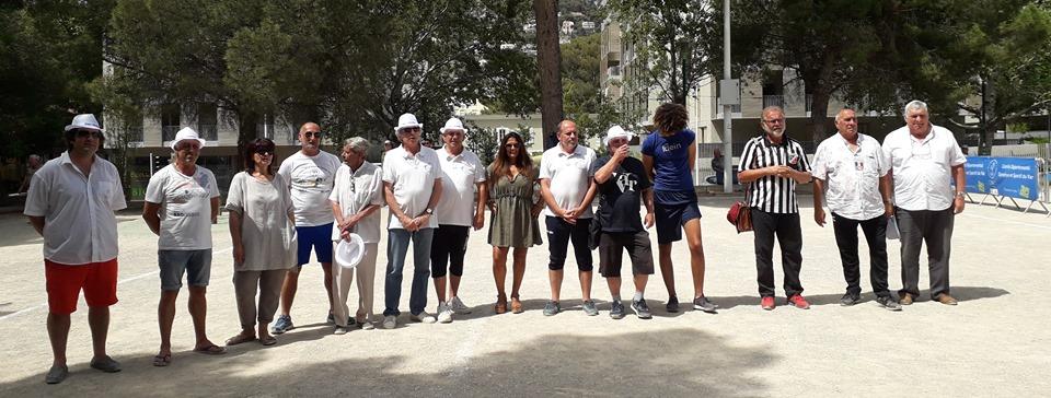 La Boule du Petit Toulonnais et les officiels
