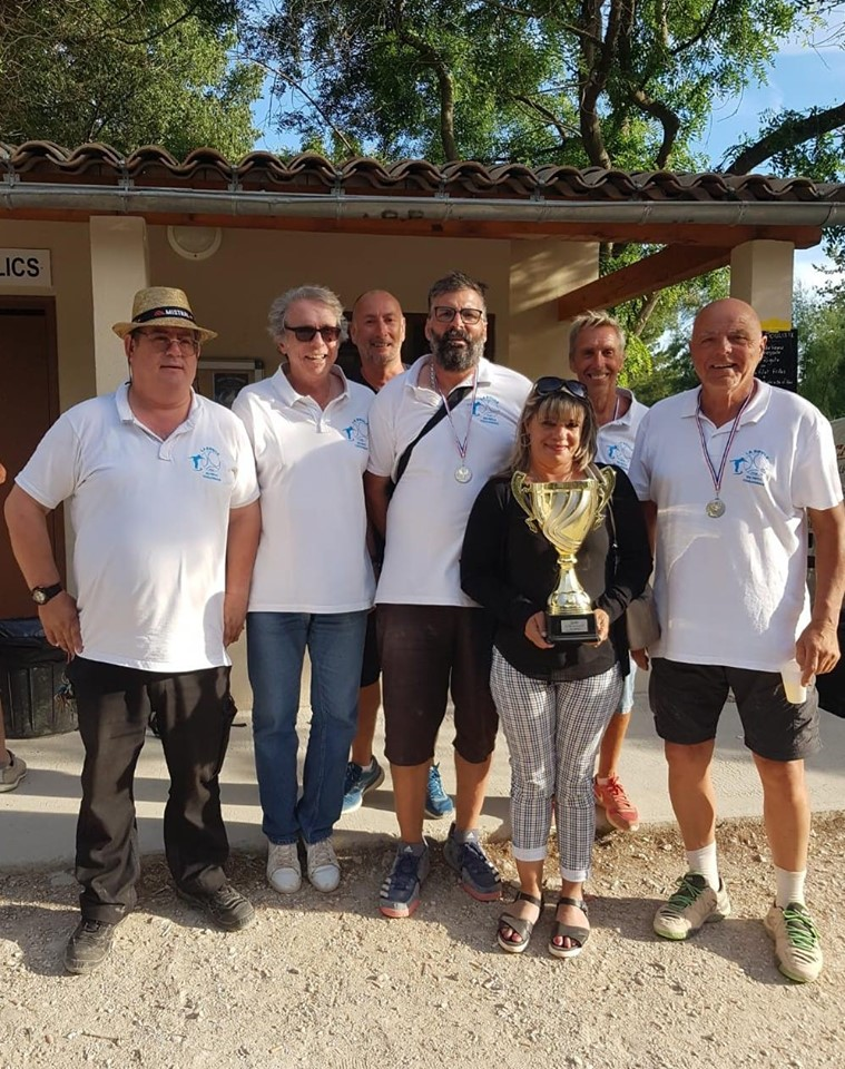 Les vainqueurs du Grand Prix du Petit Toulonnais Didier et Lucien ORSINI et Gilbert LOCATELLI