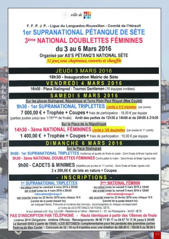 National de Sète 2016