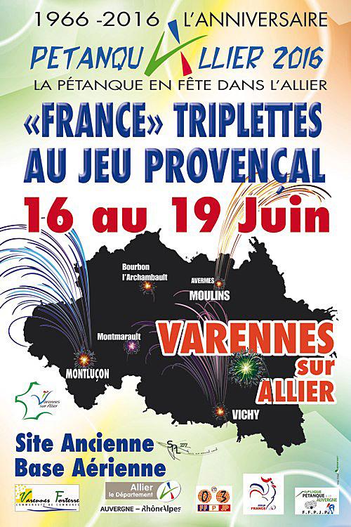 Championnat de France triplettes provençal 2016