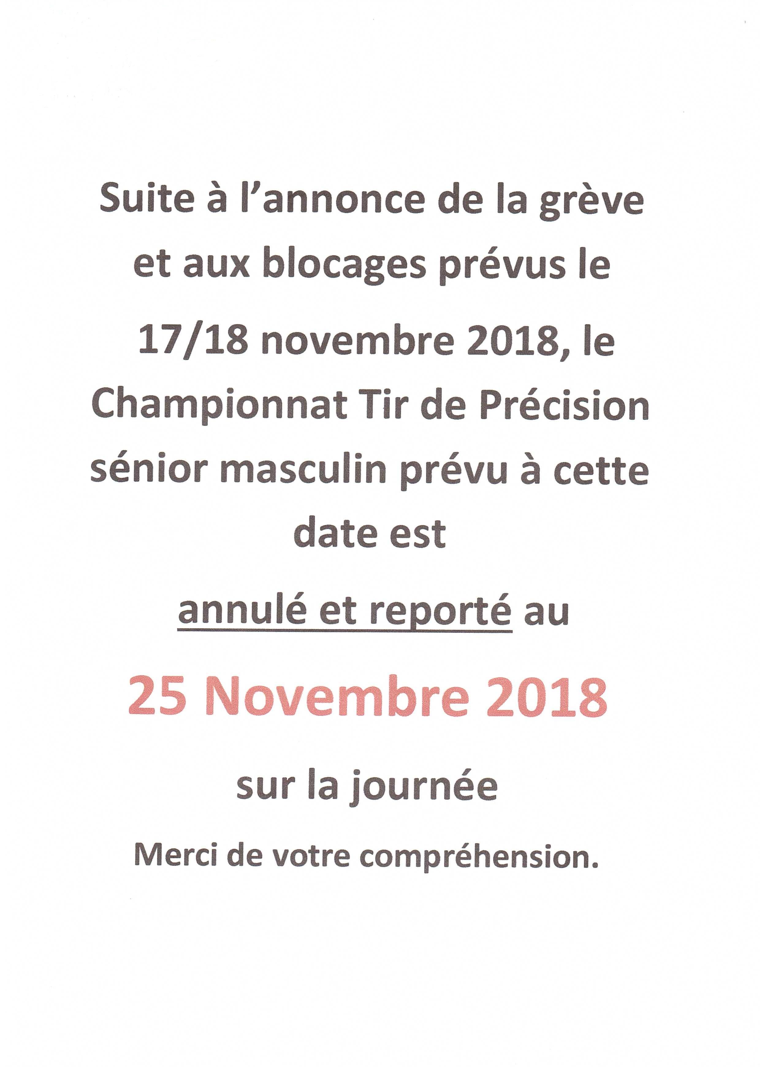 Championnat de tir de Précision du 17/18 novembre