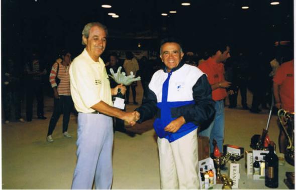 Jo Cavalière sacré meilleur pointeur de la finale à Saint Maximin en 1998 (Photo Boule Provençale Saint Maximin)