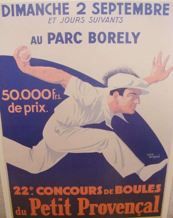 L'affiche légendaire d'André Bermond qui remporta le concours d'affiches en 1933 et qui orna longtemps le Provençal