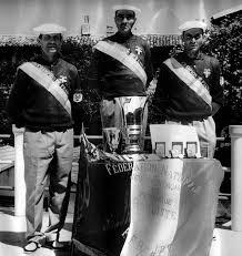 Lilou Maurin la légende avec Barbier et Marchesani Champions de France 1964 pour le Var, à l'époque il n'y avait pas de maillot mais une écharpe !
