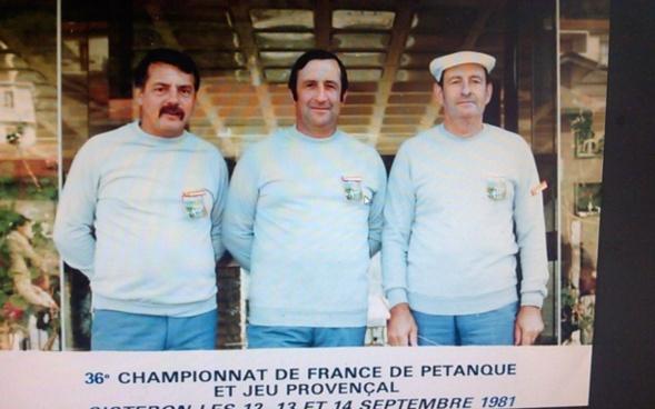 Sisteron 1981, toujours la même équipe et Vincent en bon capitaine est au milieu