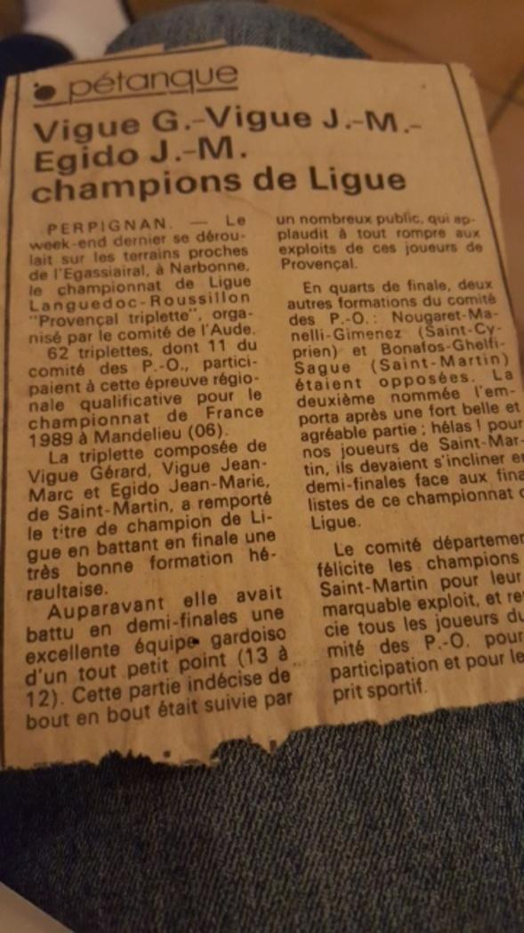 L'article du Midi Libre Perpignan