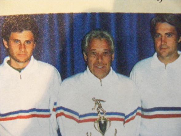 Champion de Ligue PACA 1993 avec les jeunes Alain Valdes et Christian Blasco en 1993 à Puyricard