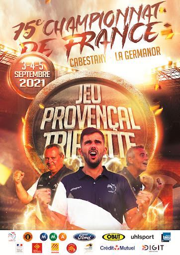 La superbe affiche de ce Championnat avec les tenants du titres Patrick et Thierry PEDRAGOSA et Cédric CAZORLA qui défendront leur titre sur leurs terres Catalanes (source FFPJP)