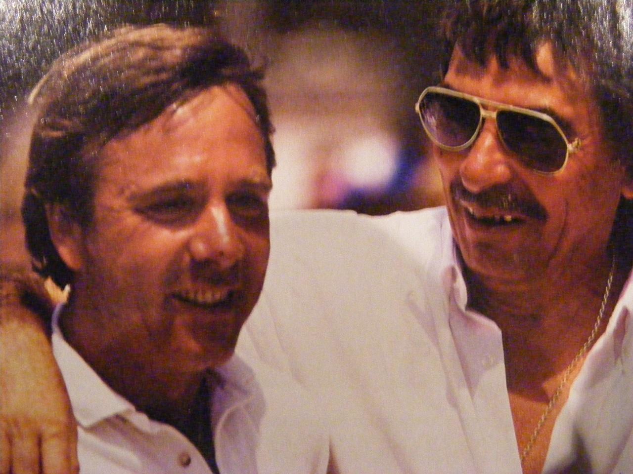 """Dédé Massoni """"le blond"""" et Milou Lovino lors de leur victoire en 1995, deux monstres sacrés du Provençal ! (Photo A Massoni)"""