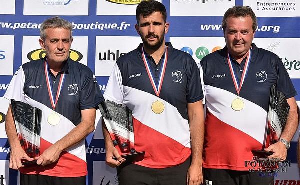 Patrick PEDRAGOSA Cédric CAZORLA et Thierry PEDRAGOSA : Enfin sacrés ! Bravo !
