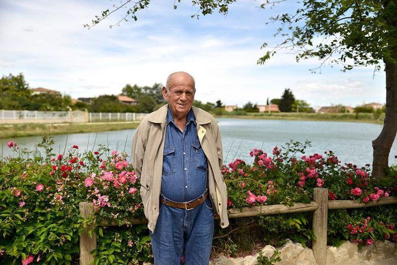 Robert l'année dernière devant le Lac qui porte son nom à Bellegarde, Ecole de pêche de Bellegarde