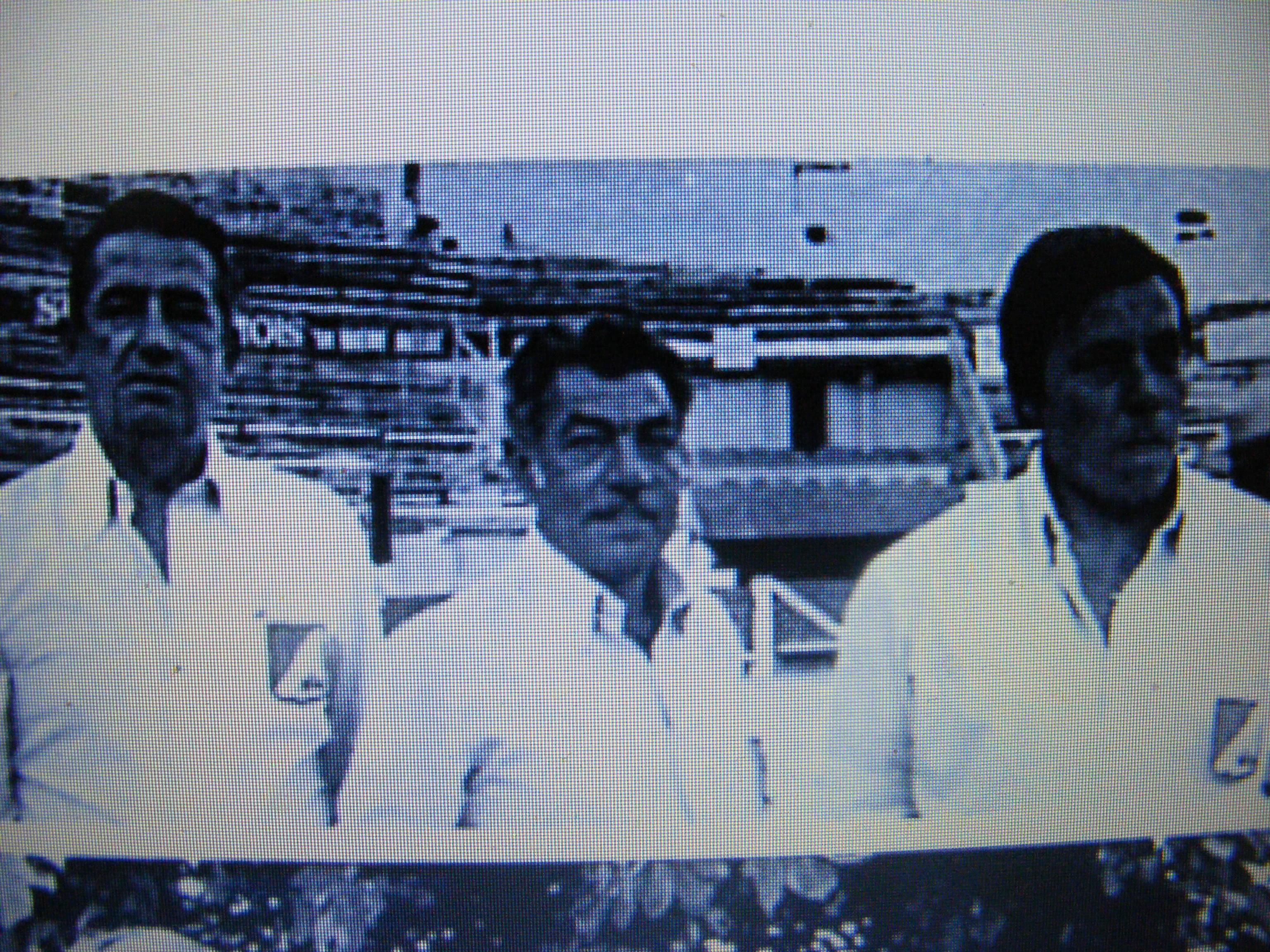 Francis VOLPE à gauche avec Mimoun EL MALIK et Claude CARBO en demi finale du Championnat de France 1978 dans les arènes de Nîmes