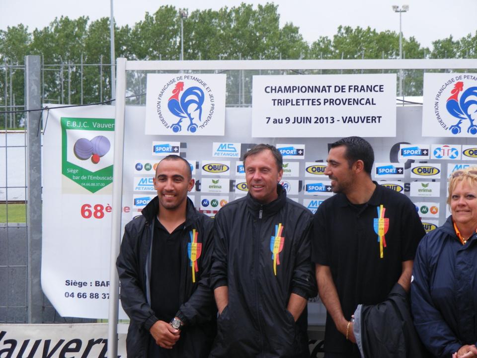 Championnat de France Jeu Provençal Triplettes Vauvert  6 au 9 Juin