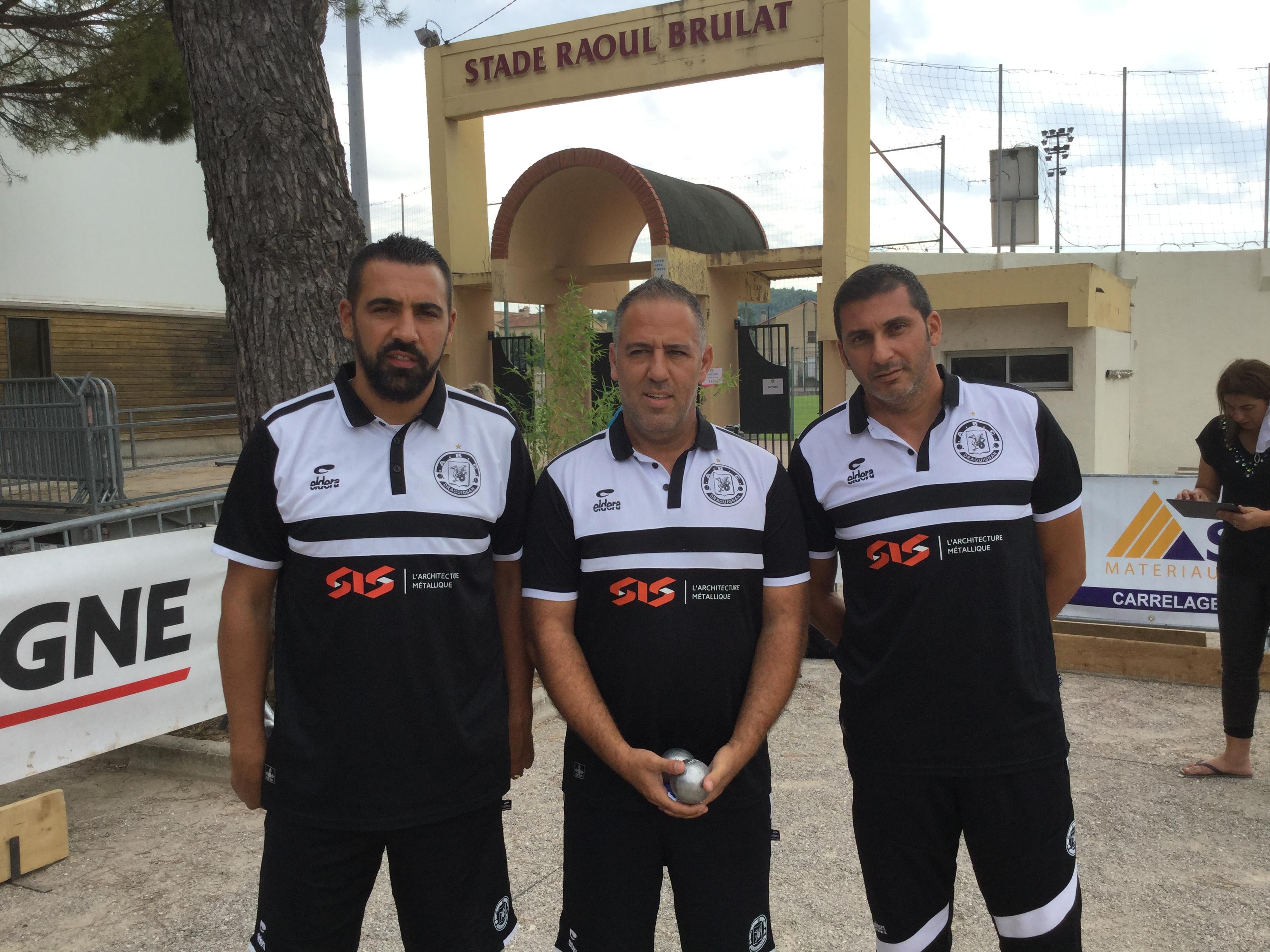 Anthony Kerfah Fabrice Rouvin et Mohamed Benmostefa, les joueurs de l'ABC Draguignan grandissimes favoris seront trés suivis. (Source photo Superchallenge)
