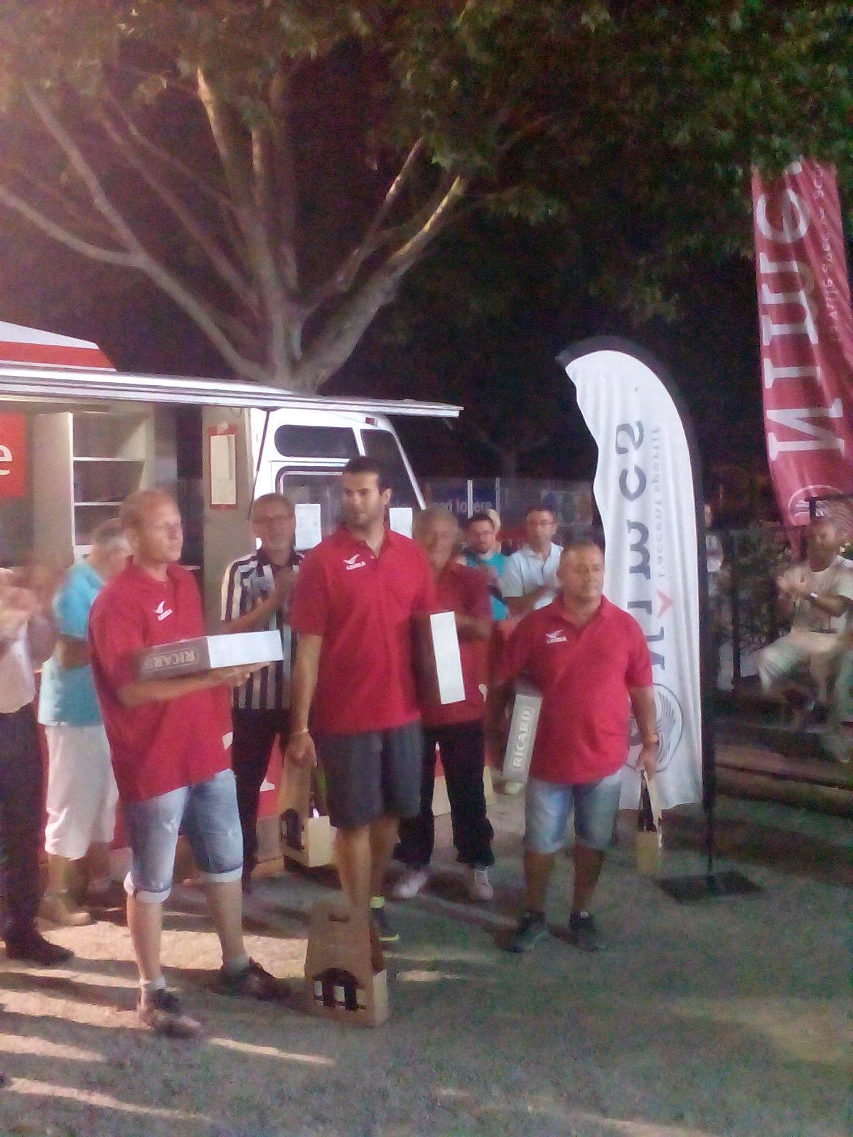 F Izzo J Serrano C Guidoni les finalistes
