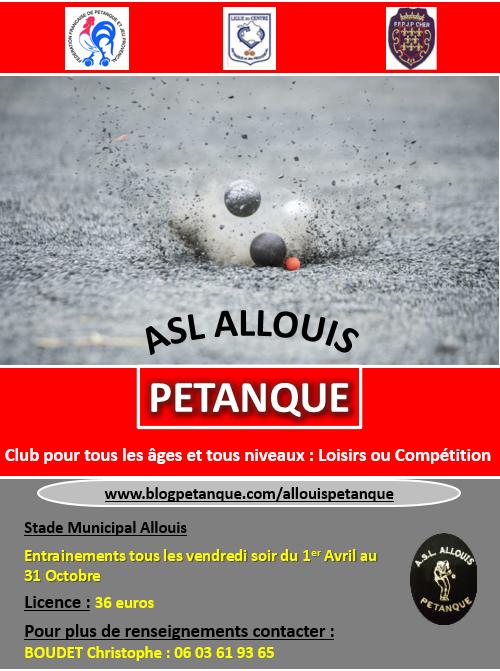 Flyer ASL ALLOUIS PETANQUE