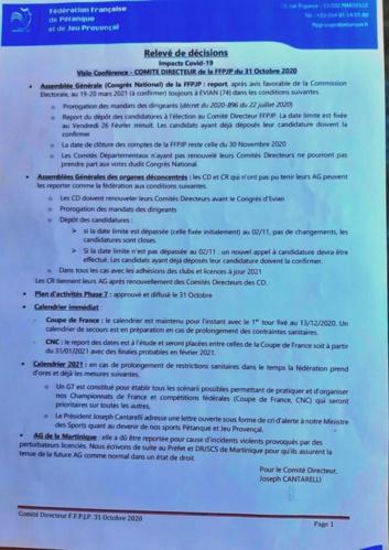 compte rendu réunion FFPJP en date du 31/10/2020