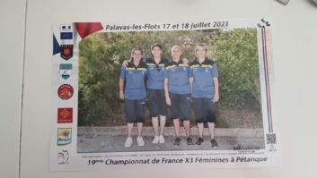 Championnats de France triplettes féminines 2021