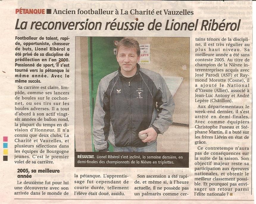Lionel Riberol a la une