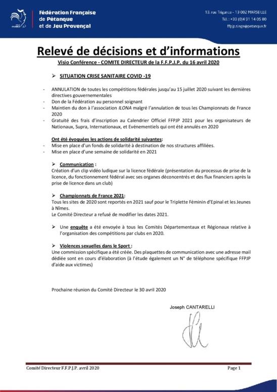 Info conavirus FFPJP