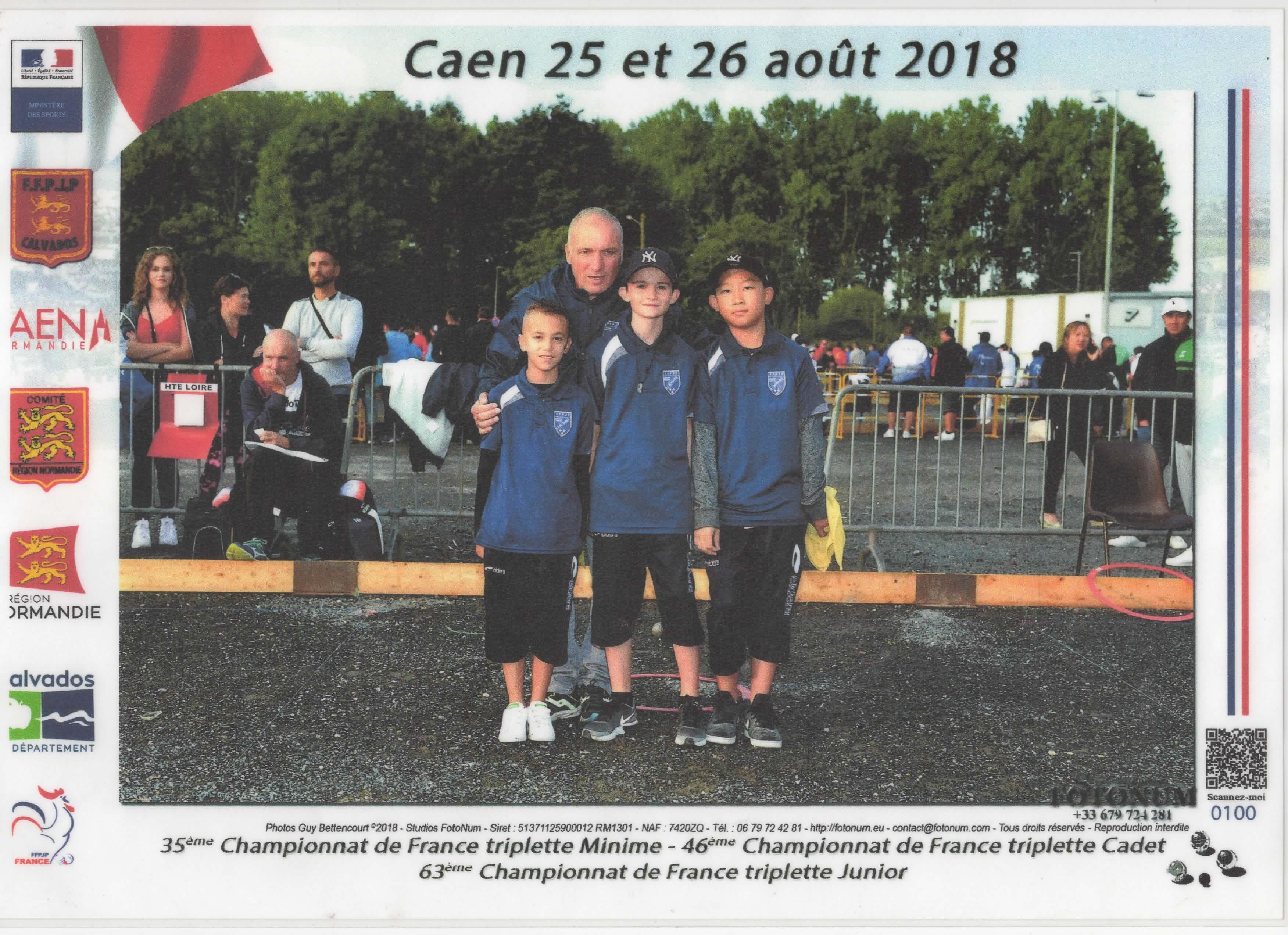 Coach: CHOUPAY Didier.  MELO Lorenzo - CHOUPAY Clément - MOUA Shun