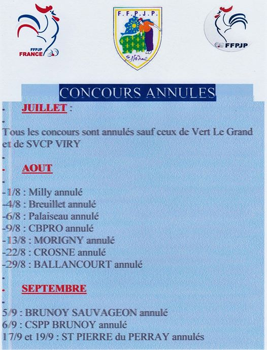 CONCOURS  ANNULES .